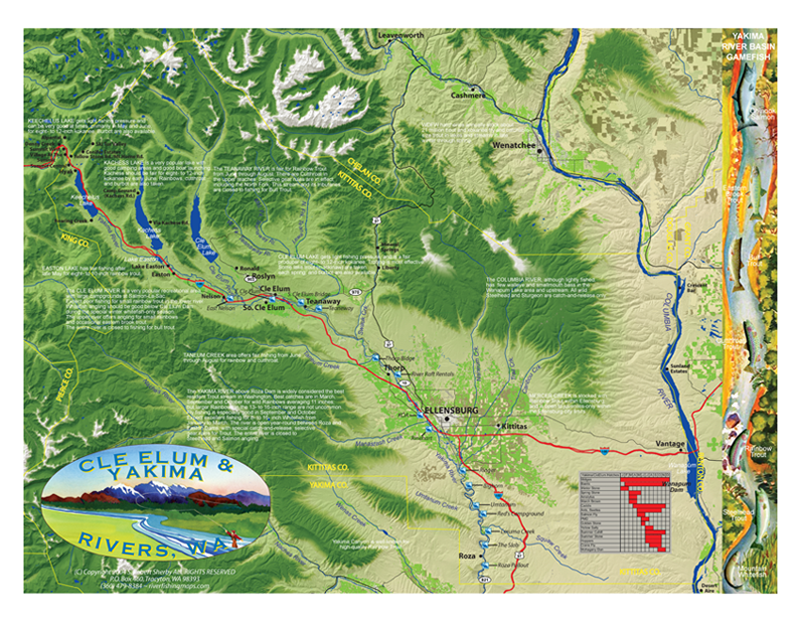 Yakama River Adventure Map