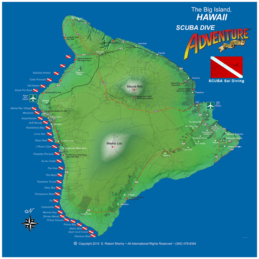 Hawaii Adventre Map
