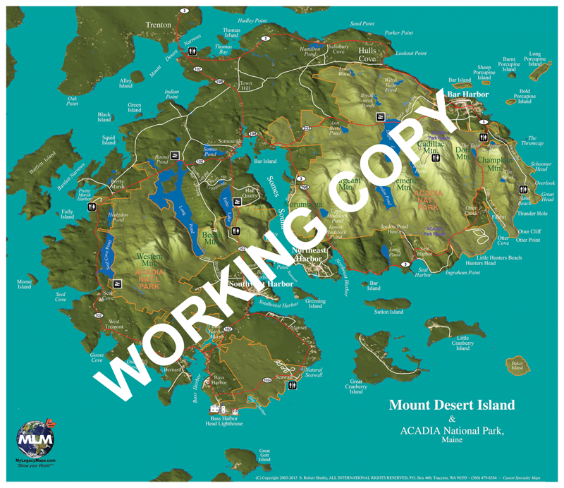 Mount Desert, ME Adventure Map