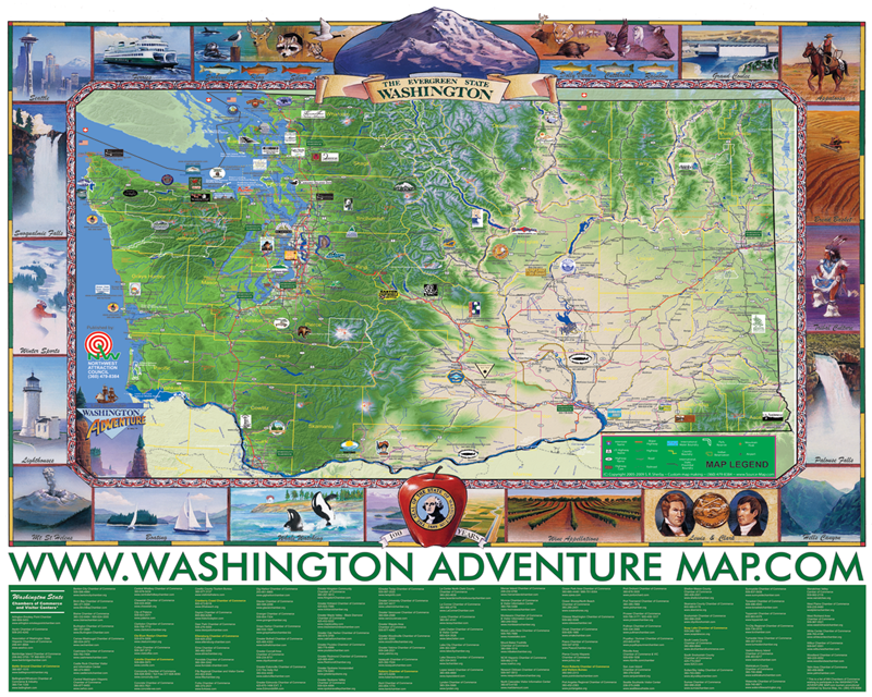 Washington Adventure Map